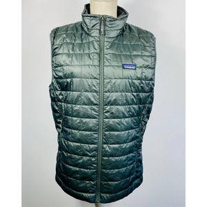 Men's Patagonia Grey Vest Size S Trend Micro Logo